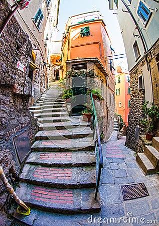 Free Vernazza Alleyway, Cinque Terre, Italy III Royalty Free Stock Photos - 26184288