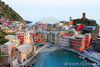 Vernazza Italy Editorial Stock Photo