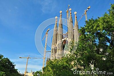 Vernieuwing van Sagrada FamÃlia, Barcelona, Spanje
