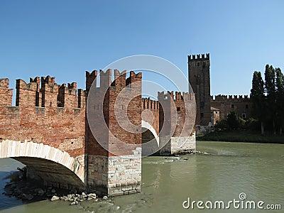 Verona - medieval castle bridge