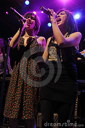 The Veronicas performing live. Editorial Photo