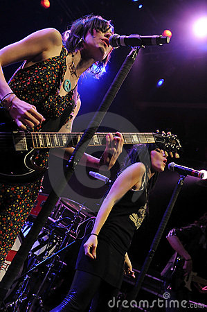 The Veronicas performing live. Editorial Stock Image