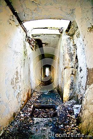 Verouderde militaire catacomben