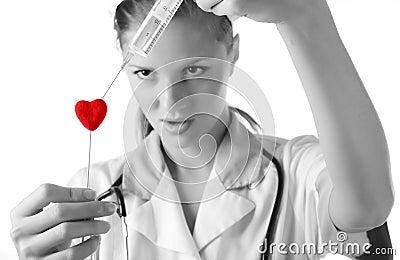 Verpleegster met spuit