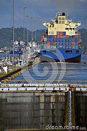 Verriegelungen, Panamakanal