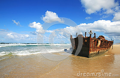 Verrostender Schiffbruch