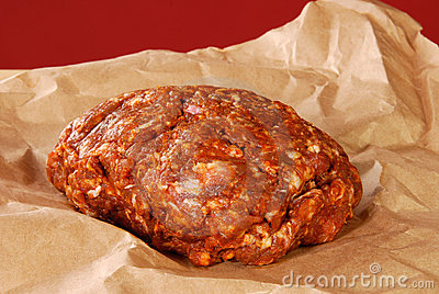 Vers gemalen het varkensvleesworst van Choriso