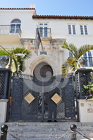 Versace mansion in Miami, Florida Editorial Stock Image