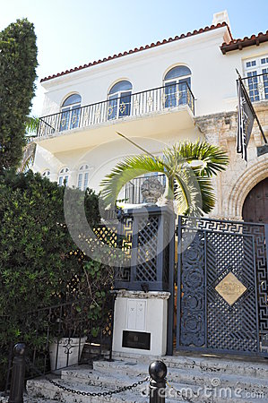 Versace mansion in Miami, Florida Editorial Photo