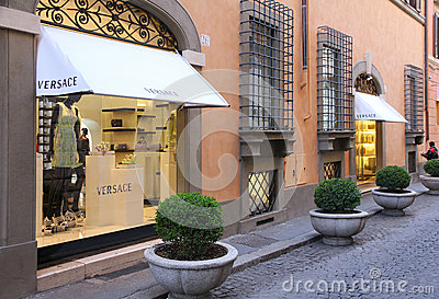 Versace in Rome, Italy Editorial Stock Photo