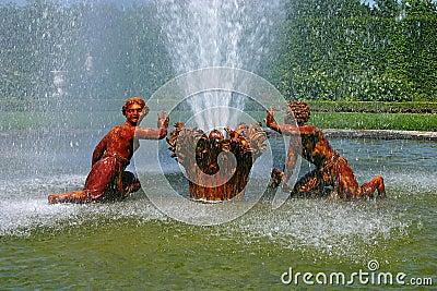 Versailles  - Fountain 2 Editorial Photography