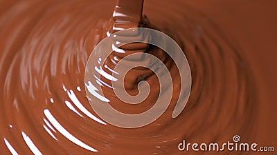 Versamento di cioccolato in polvere archivi video