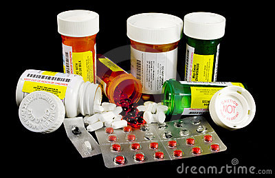 Verschiedene Medizin und Betäubungsmittel
