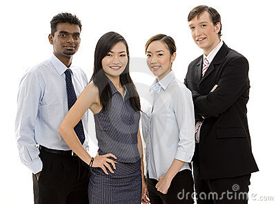 Verschiedenes Geschäfts-Team 2