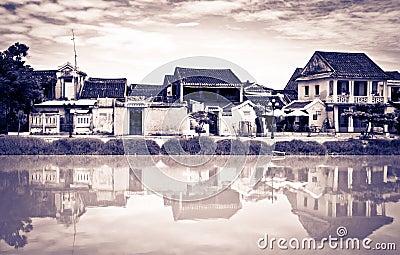 Verschillende uitstekend kijkt van Hoi, Vietnam, Unesco