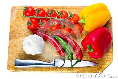 Verse groenten voor het koken