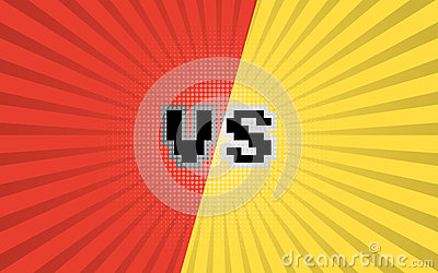 Versus Letters Fight Background Comic Book Versus Template Background Cartoon Vector Cartoondealer Com 93156097