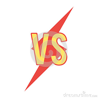 Free Versus Sign On Flash Shape Royalty Free Stock Photo - 93398045