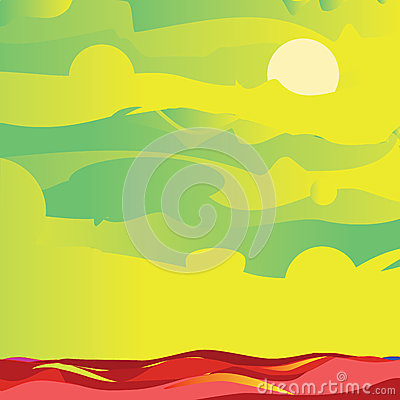 Vert de ciel et de mer