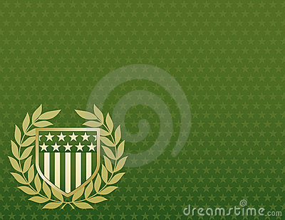 Vert et écran protecteur d or sur un fond d étoile