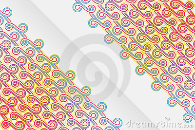 Vertical abstract ribbons design