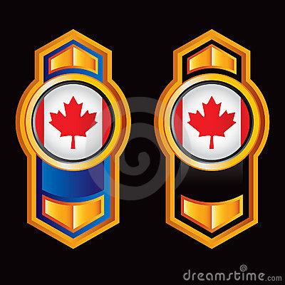 Vertical arrow with canadian flag