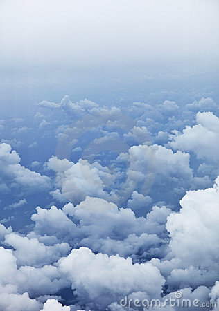 Vertical background - photo of clouds from aerial