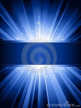 Free Vertical Blue Light Burst With Stars And Copyspace Royalty Free Stock Images - 10911759
