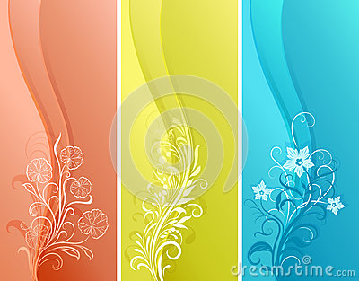 Vertical color banners