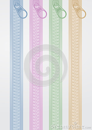 Vertical color zip