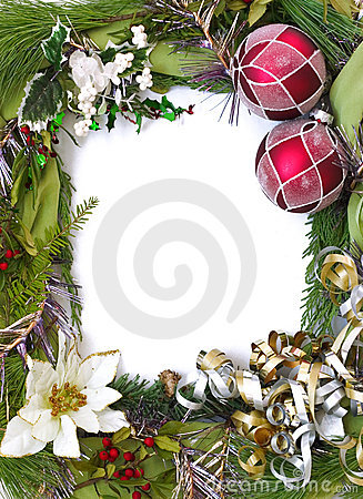 Free Vertical Empty Christmas Frame Royalty Free Stock Images - 351039