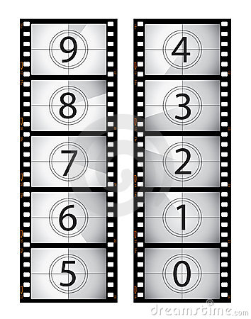 Vertical film countdown