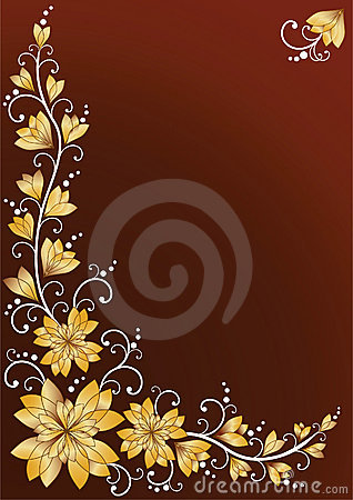 Vertical floral backgrounds. Brown