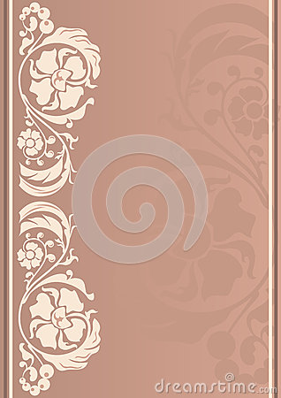 Vertical floral frame in neutral colors