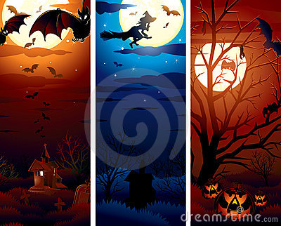Vertical Halloween Illustrations