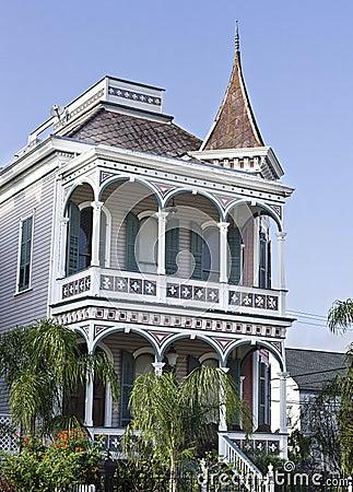 Vertical: Historic Victorian House in Gaveston, Texas