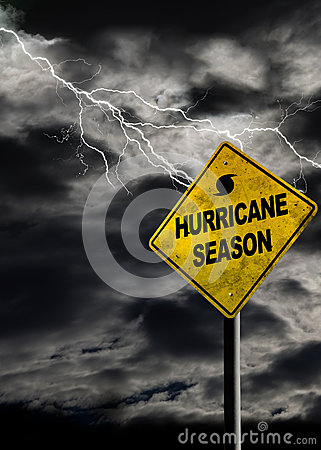 Free Vertical Hurricane Season Sign With Stormy Background Stock Image - 72757771