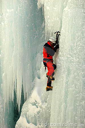 Free Vertical Ice Climbing Royalty Free Stock Photography - 2061867