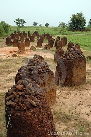 Vertical image of the Wassu stone circles
