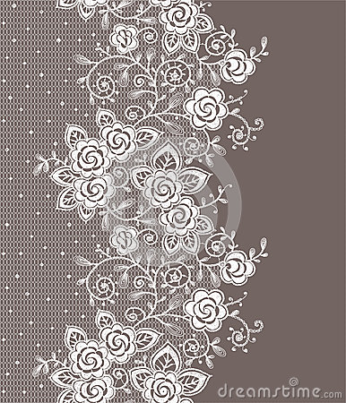 Free Vertical Lace Seamless Pattern. Royalty Free Stock Images - 54543189