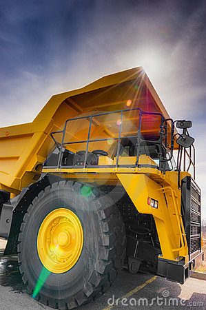 Vertical large haul truck