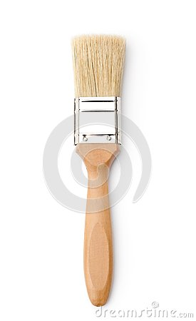 Vertical paintbrush, isolated on white