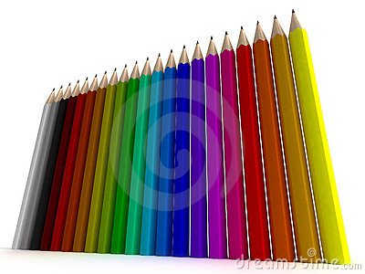 Vertical pencil background