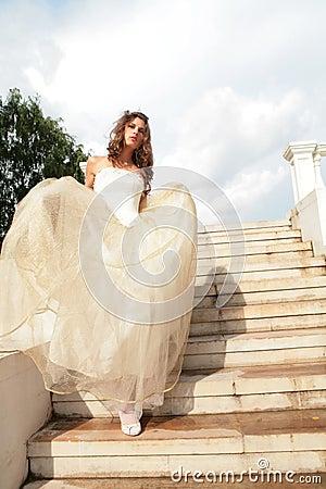 Vertical portrait of the bride