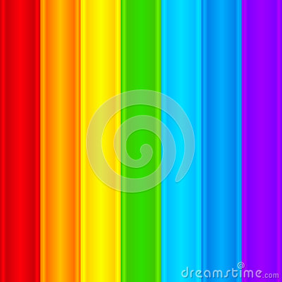Vertical rainbow plastic stripes abstract vector