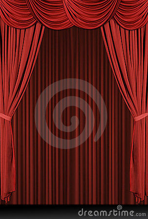 Free Vertical Red Draped Stage Stock Photo - 1521040