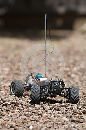 Vertical of remote controlled electric truck with no plastic body