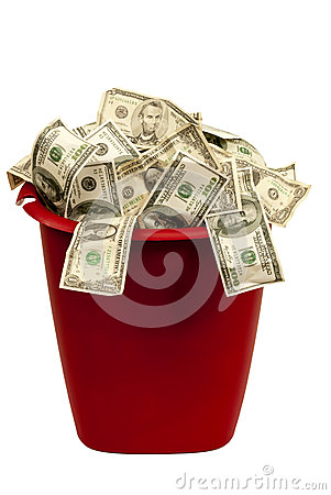 Wasting Money Isolated On White