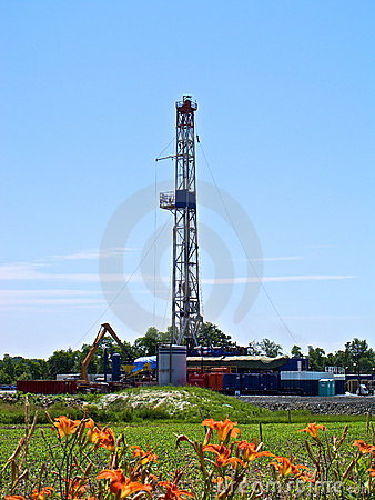 Vertical Shot of Natural Gas Drill