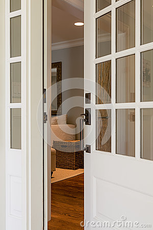 Vertical Shot Of An Open Wooden Front Door Stock Photo Image 39161911